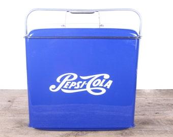Antique Pepsi Cooler / Blue Pepsi Ice Chest / Vintage Pepsi-Cola Collectibles / Pepsi Cola / Vintage Cooler / Cola Ice Chest /Man Cave Decor