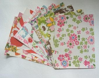 "Power Pop Pink 1960s Vintage wallpaper collage/scrapbook sample pack (10 sheets, 8.5x11.5"")"