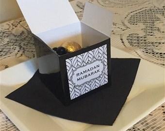 Set of 12 Ramadan Mubarak Favor/Gift Boxes