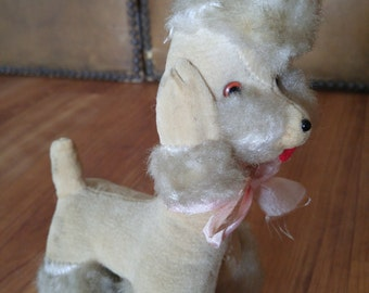 50s / 60s stuffed toy poodle dog made in Japan.