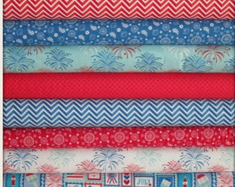 Star Spangled Bundle From Riley Blake - 8 Fabrics