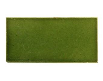 Vintage green subway tile