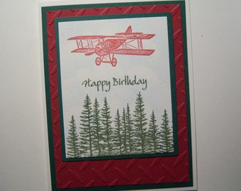 Flying Over The Trees Birthday Card