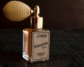 Mademoiselle Spirit - Woodland Peach Perfume - Sandalwood Vanilla Grapefruit - Atomizer Bottle -1 oz