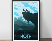 Hoth Vacation Poster - 12 x 18 inches - Star Wars - Taun Taun - Empire Strikes Back