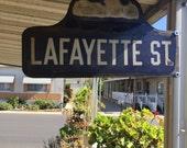 RESERVED for Linda - Vintage 'Lafayette' Street Sign
