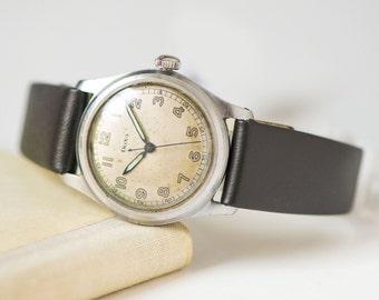 Vintage tomboy watch DOXA, Swiss made mechanical men watch, shockproof\waterproof\antimagnetic watch, classy watch,premium leather strap new