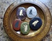 OWL Gemstone Animal Spirit Totem for Spiritual Jewelry or Crafts