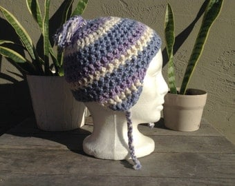 Organic Cotton Beanie with Earflaps