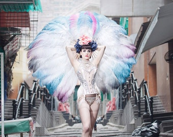 Huge Burlesque Feather Fans - As seen on ITV