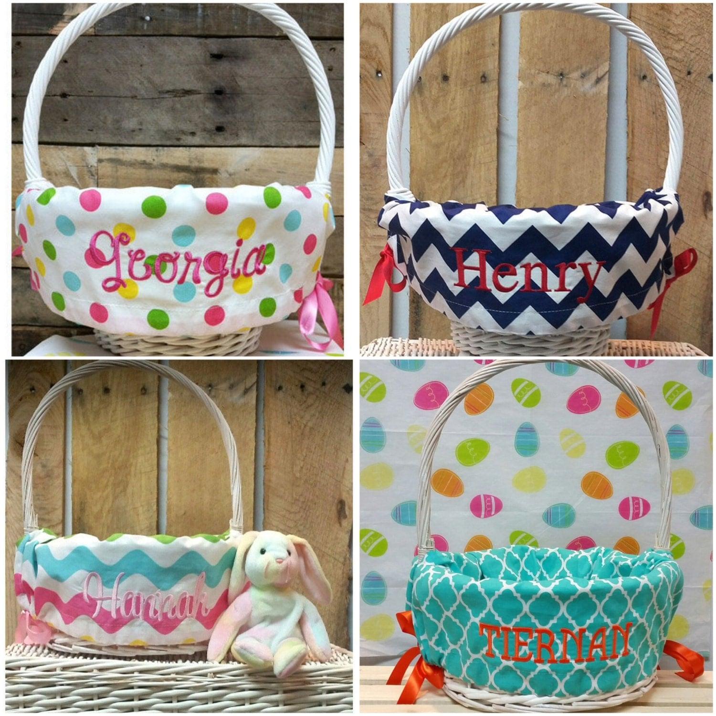 Basket Liner Easter Basket Liner Personalized By
