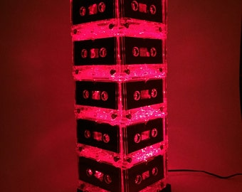 Red Cassette Tape Lamp Mixtape Light Eco Friendly Lamp