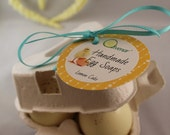 Handmade Egg Soaps in a beautiful 3 egg carton