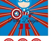 Super Hero decorations, PRINTABLE superhero hanging decorations, hulk, captain america, iron man, batman, superman, spiderman, super hero
