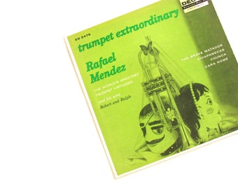 Vintage Decca Records Extended Play 45RPM Record - Rafael Mendez - Trumpet - Hi-Fidelity - Record Album - Rigoletto - Collectibles