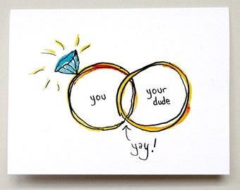 Venn diagram with rings for the bride