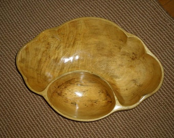 Carved Wood Mango Wood/Chip-DIP BOWL/Vintage OOAK Bowl