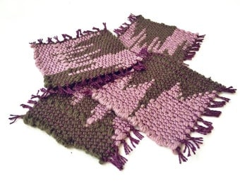 Mug Rugs // Handwoven Fabric Coasters