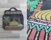 10 to 25% OFF (See Shop) Vintage 70's Kitsch Turkish Beaded Tote with Plastic Handle