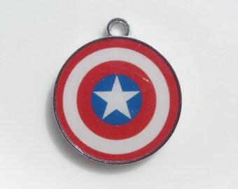 25mm Captain America Inspired Charm/Pendant (Y18)