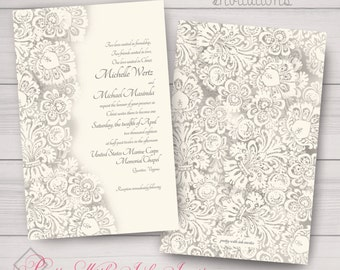 wedding engagement anniversary invitations ivorylace classy traditionalreligious