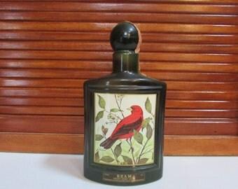 Jim Beam Scarlet Tanager Whiskey Bottle Lockhart Wisconsin stickers