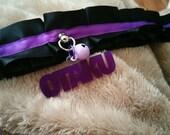 Otaku collar necklace purple and black