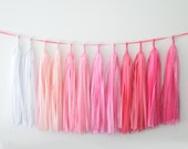 OMBRE PINK Tassel Garland Banner-  Party Decorations, Party, Weddings decor / fully assambled