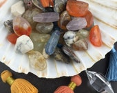 Gemstone Nugget Loose Beads : Semiprecious Mix Grab Bag, 6 to 24mm, Assorted Stones and Colors, Bohemian Jewelry Making Craft Supply, GS318