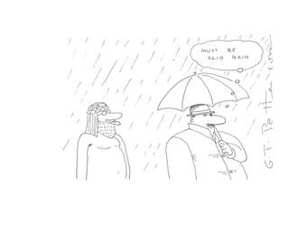 Must be Acid rain cartoon print