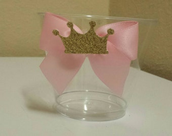 10 Pink Gold Princess 1st birthday party or baby shower nut, candy or dessert cups custom made to match colors
