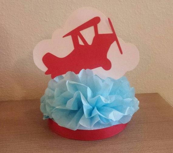 Vintage Airplane Birthday Party Airplane Baby Shower: Vintage Airplane Centerpiece 1st Birthday Party Or Baby Shower