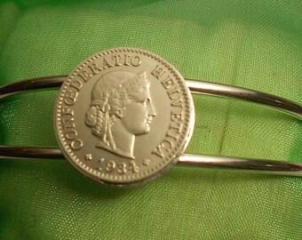 Switzerland Vintage Coin Bracelet 1934