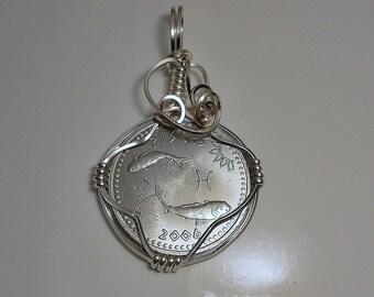 Pisces Zodiac Birthday Coin Pendant