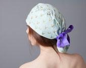 Surgery Hat, Scrub cap, Ponytail Scrub cap, Surgery cap~ urban holiday