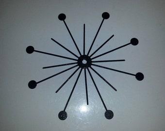Black Starburst Mirror - 16 inch