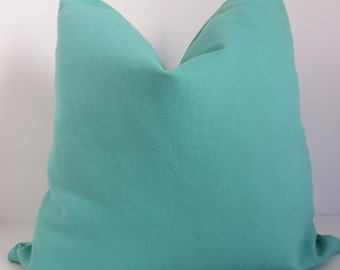 Turquoise Pillow Cover, Decorative Pillow Cover, Turquoise Pillows, 16x16 Pillow Covers, Teal Pillow cover