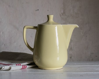 Mid Century Coffee Pot or Teapot in Yellow