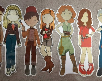 Dr Who Styled Character Bookmark