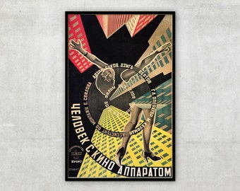 Old movie poster - Dziga Vertov - Man with the movie camera - by Sternberg Brothers - Wall art, P081