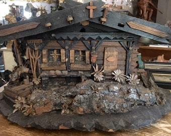 Wood Rustic Chalet Jewelry box