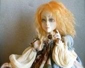 Christmas sale! Discount 15% Mari  Handmade art doll  Art doll   Art dolls OOAK   Paperclay  doll   Handmade doll   Collecting doll