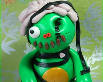 Meet SweetPea Slime. Full Sized Zombie Doll. Hand Sculpted Polymer Clay Figurine. was 23 now 19