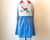 SALE Vintage Bird Applique Sweatshirt, Women's Small