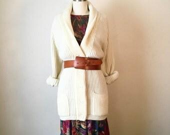"SALE Vintage ""The Dude"" Cream Knit Cardigan"