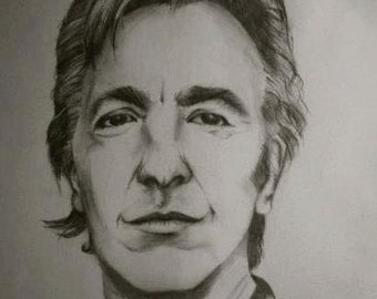 Alan Rickman Portrait