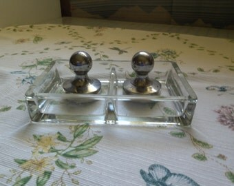 Glass Card Holder with Weights, for Outside Play,