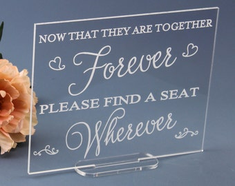 Open Seating Sign for Weddings and Receptions