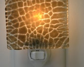 Gray Crackle Fused Glass Night Light