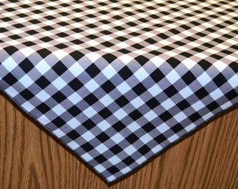 42 x 42 Inch Eco-Friendly Black and White Gingham Overlay